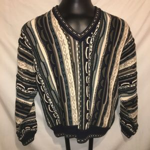 Vintage Cotton Traders Sweater Striped Men's Large